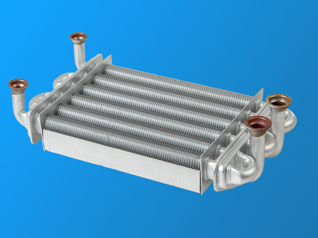 Wall - mounted six - tube double - channel fast - plug heat exchanger